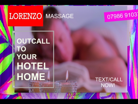 Lorenzo's Massage for Gay / Bi / Str8 Men at Your Hotel / Home in London