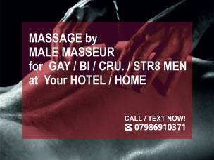 Full body ★ MASSAGE by MALE MASSEUR to Your Hotel / Home in London (out-call massage only)