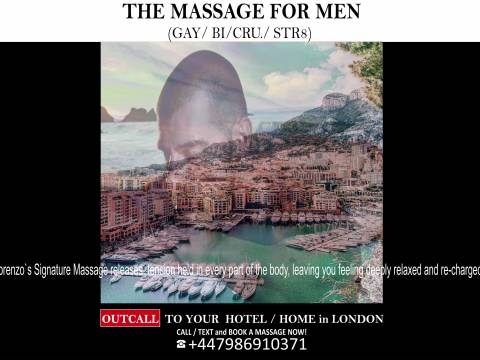 FULL BODY MASSAGE by Young MALE MASSEUR For Men - Out call to Your Hotel - Home in London (best-gay-friendly-massage-services-london)