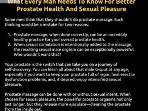 GENTLE PROSTATE MASSAGE BY EXPERIENCED FEMALE PRACTITIONER