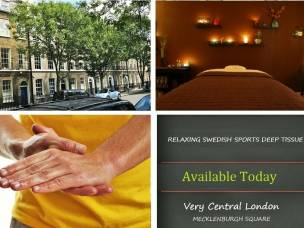 MALE MASSEUR IN CENTRAL LONDON