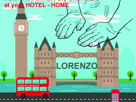 LORENZO`S MASSAGE FOR MEN (GAY/BI/STR) to YOUR HOTEL/ HOME in LONDON